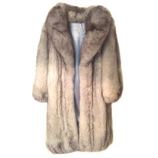 Silver Artic Fox Fur Coat