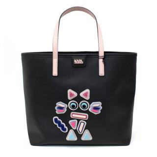 Karl Lagerfeld Black K/Plexi Shopper