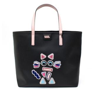 Karl Lagerfeld Black K/Plexi Shopper