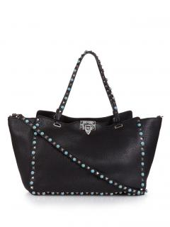 Valentino Rockstud Rolling Leather Tote bag