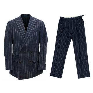 Ralph Lauren Purple Label Men's Blue Pinstripe Suit