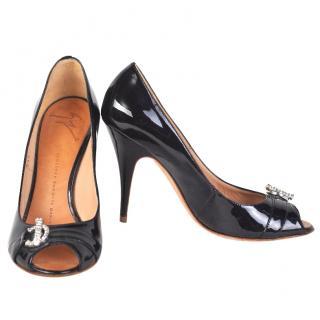 Giuseppe Zanotti patent leather peep toes