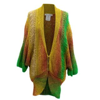 Oscar de la Renta Multicolored Knit Cardigan