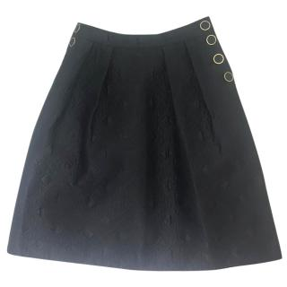 Temperley Silk & Cotton Black Skirt.