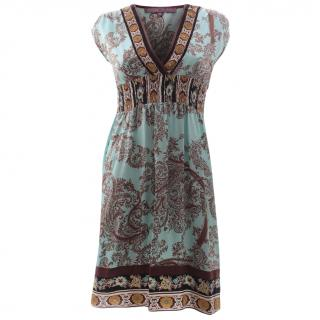 Hale Bob Silk Printed Dress