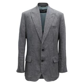Dolce & Gabbana Grey Check Jacket