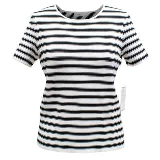 A.L.C Black and White Striped Top