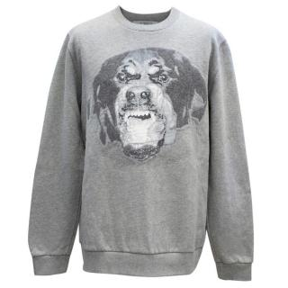Givenchy Grey Givenchy Cuban Fit Rottweiler Jumper
