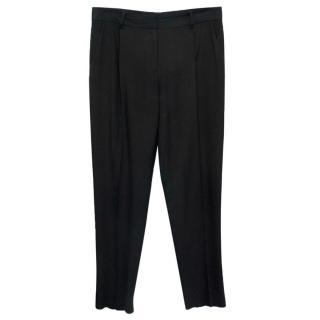 Diane Von Furstenberg Black Wide Leg Trousers