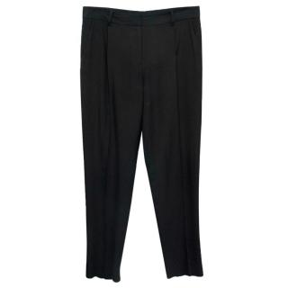 Diane Von Furstenberg Black Wide Leg Trousers