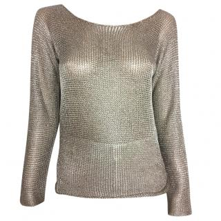 Joseph crochet knit sweater with open back