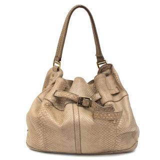 Burberry Beige Snakeskin Shoulder Bag