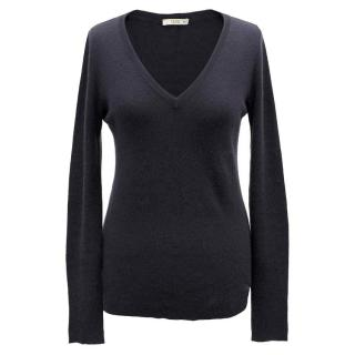 Prada Navy Cashmere Blend Sweater