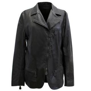 Bottega Veneta Black Leather Jacket