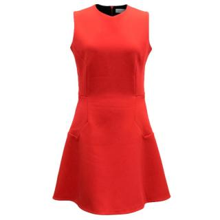 Victoria Beckham Red Cr�pe Dress