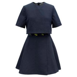 Kenzo Navy Blue Layered Dress