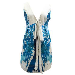 Hoss Blue Patterned Dress