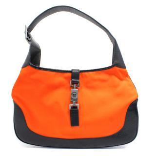 Gucci Orange and Black Jackie Shoulder Bag