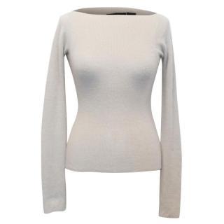 Donna Karen Signature Beige Cashmere Sweater