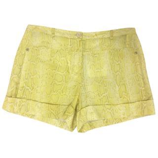 Roberto Cavalli Snake Print Shorts