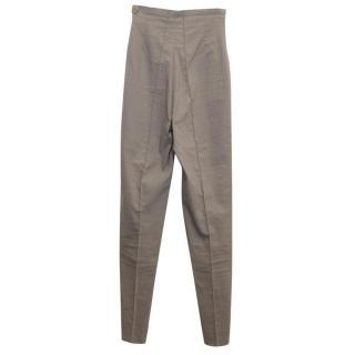Romeo Gigli Khaki High Waisted Trousers