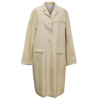 Prada Beige Long Silk Coat