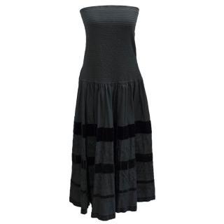 Diane Von Furstenberg Black Strapless Dress
