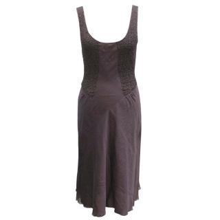 Emporio Armani Plum Sleeveless Dress