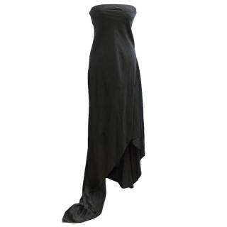 Dona Karan Black Silk Gown
