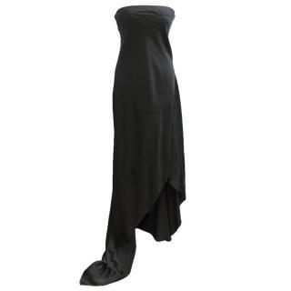 Dona Karan Black Silk Gown