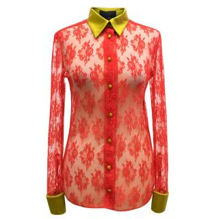 Eric Schlosberg Red Lace Top