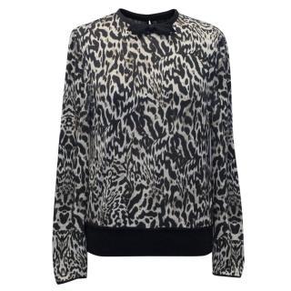 Giambattista Valli Leopard Print Sweater