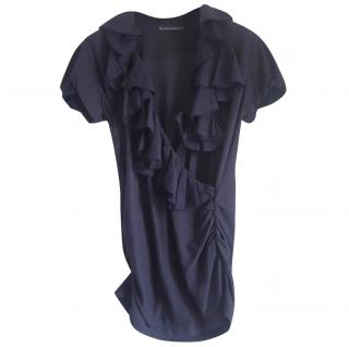 Ralph Lauren Navy Ruffle Top