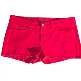 J Brand Bright Red Cut-Off Shorts