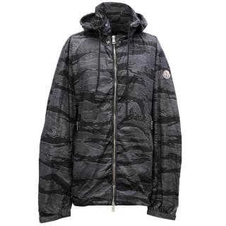 Moncler Men's Grey Camouflage Windbreaker