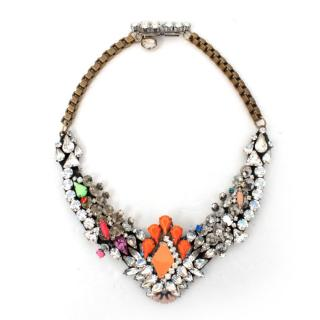 Shourouk Crystal and Neon Beaded Necklace