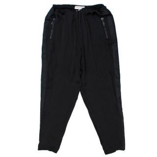 Emilio Pucci Black Silk Trousers