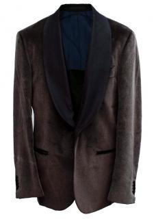 SuitSupply Brown Velvet Blazer