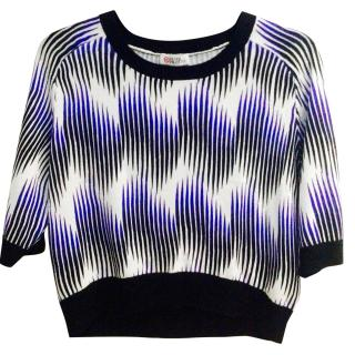Peter Pilotto Cropped Knit Print Top