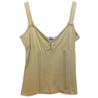 Moschino Cheap and Chic beige top