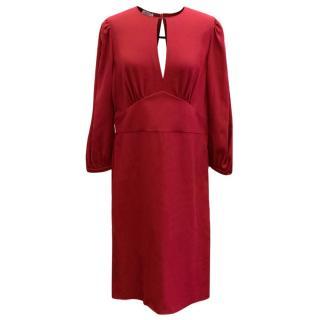 Miu Miu Burgundy Open Front Dress