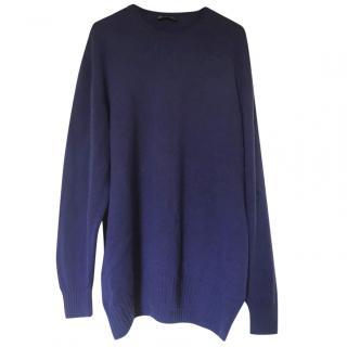 Loro Piana Blue 100% Cashmere Jumper
