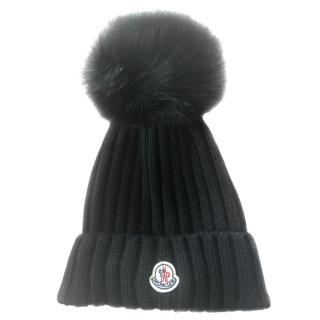 Moncler wool & fur hat