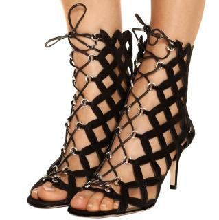 Gianvito Rossi lace up boot sandals 5.5