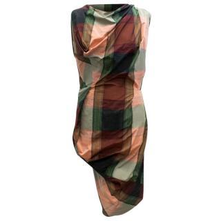 Vivienne Westwood Tartan Asymmetric Dress
