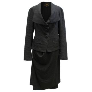 Vivienne Westwood Black Pinstripe Suit Set