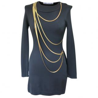 Osman Yousefzada mini dress with gold chains