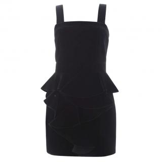 Balmain Velvet Ruffled Mini Dress