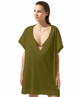 Eres Zephyr Renee khaki cotton kaftan/tunic