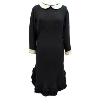 Rochas Black Silk Dress